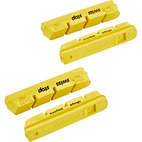 SwissStop RacePro Brake Linings for Campagnolo 10/11S Carbon yellow